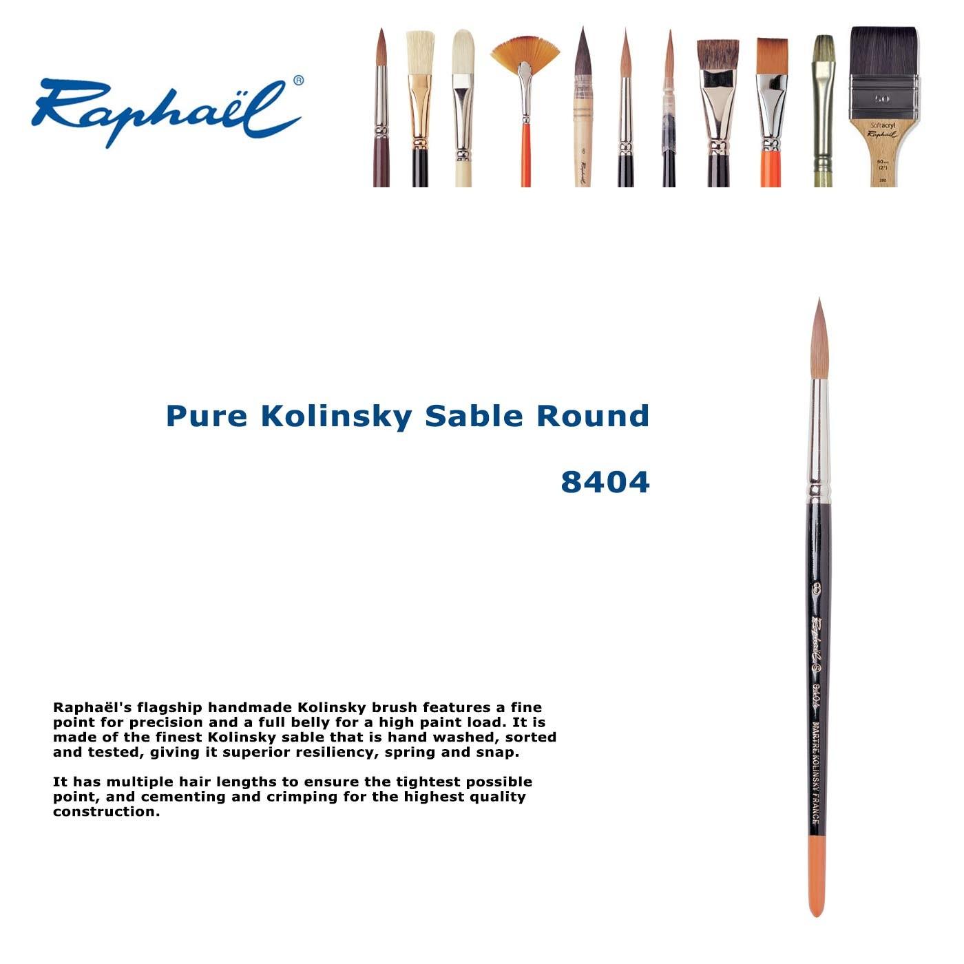 Kolinsky 8404 Sable Fine Point Round 00
