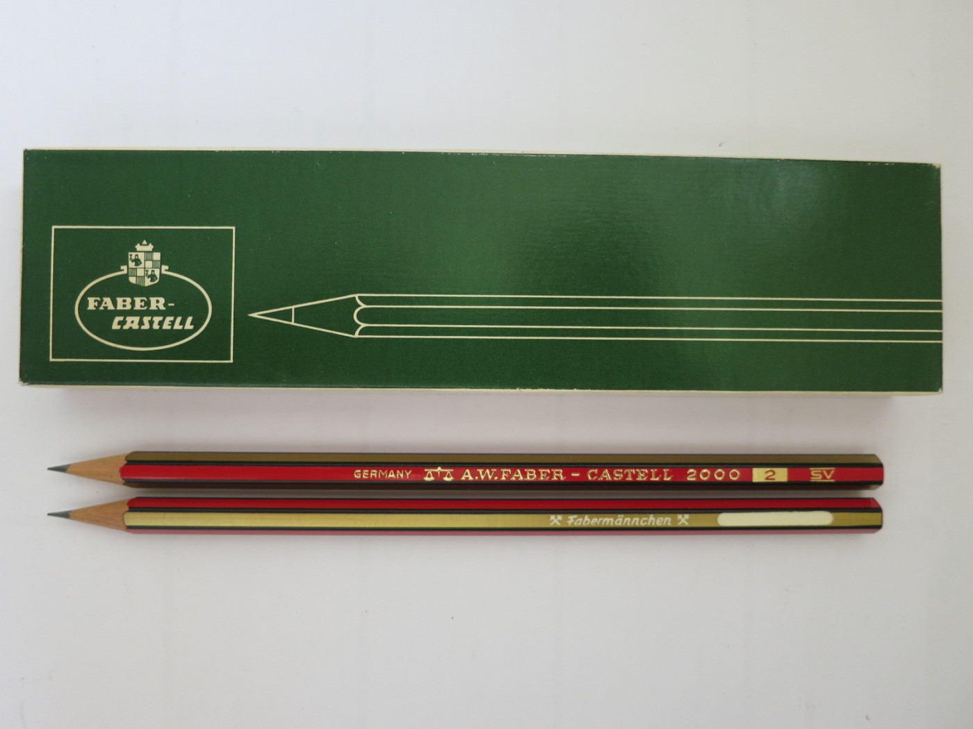 vintage a w faber castell 2000 pencil 2 fabermannchen made in germany vintage. Black Bedroom Furniture Sets. Home Design Ideas