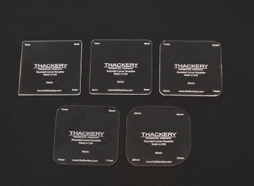 Thackery Rounded Corner Template - METRIC - choose from 5 separate templates - 20 sizes