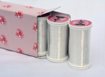 2 pack Fil Au Chinois INVISIBLE / clear POLYAMIDE THREAD (for hand or machine sewing) 100m spool (200m total) - Made In France