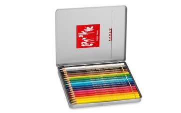 Caran d'Ache - PABLO 18 color assortment metal box set - Made in Switzerland - finest in the world!