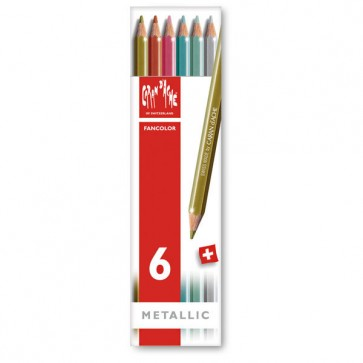 Caran d'Ache - Set of 6 Metallic Fancolor Pencils - Made in Switzerland - finest graphite pencils in the world!