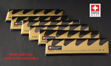 24 Pack PIKE Jewelers Sawblades - finest! MADE in SWITZERLAND - choose sz 1 thru 6 (Size #1)