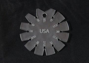 Bevel Gauge 15 deg to 120 deg - Clear Acrylic - Made in America