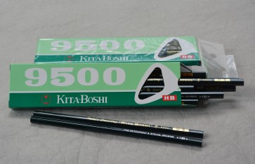 "KITABOSHI 9500 ""Drawing and Retouching"" Pencil - HB - Made in Japan - Pack of 12"