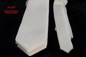 "PRE-CUT 3 1/2"" wide HEAVY weight necktie interfacing / interlining - AC Ter Kuile, finest available, Made Netherlands"