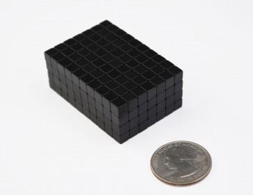 "50 pcs EPOXY COATED CUBE MAGNETS 5mm (3/16"") - N40 Neodymium"