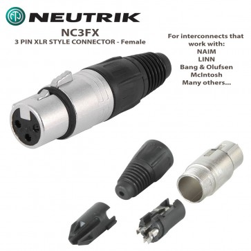 NEUTRIK NC3FX 3 PIN XLR Style Connector - For Interconnect Cables - NAIM, LINN, McIntosh + more