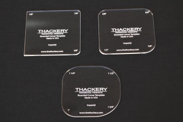 Thackery Rounded Corner Template - INCHES - choose from set of 3 templates - 12 sizes