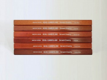 VINTAGE DERWENT Drawing Pencil - BROWN OCHRE - Rounded Style - Made in Great Britain