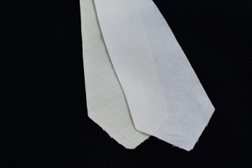"PRE-CUT 3 3/4"" wide - 2 layer cotton + wool necktie interfacing / interlining, AC Ter Kuile, finest available, Made Netherlands"