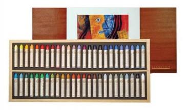 Sennelier Picasso - Oil Pastel Wood Set 50 Original Picasso Colors