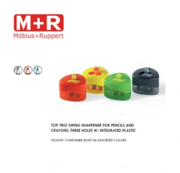 Mobius + Ruppert (M+R) 0959 TOP TRIO 3 HOLE swing sharpener w/ container
