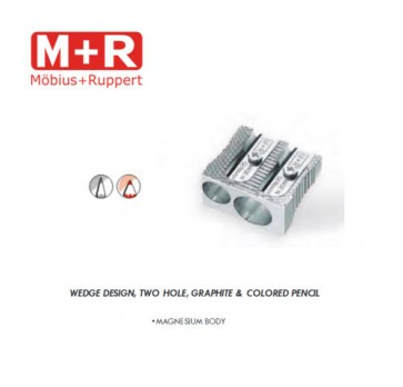 Mobius and Ruppert (M+R) 0211 DOUBLE WEDGE CONE SHAPED MAGNESIUM Pencil sharpener