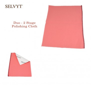 """Selvyt® Duo - 2 Stage Polishing Cloth - available in 6"""" x 7.5"""" or 9"""" x 11"""" - Made in England"""