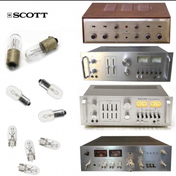 Replacement Bulbs for Vintage HH Scott 370R, 380R and 390R - 6 bulb set