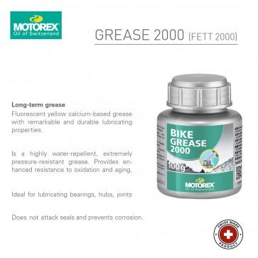 Motorex Grease 2000 - 100g bottle - Made in Switzerland