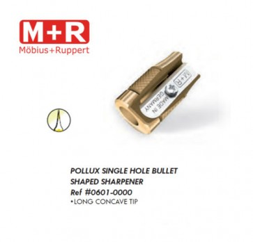 Mobius + Ruppert M+R 0601 long concave tip (Pollux) BULLET SHAPED BRASS Pencil sharpener