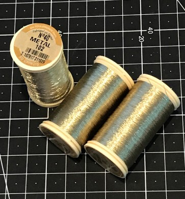 Fil Au Chinois Metallic Thread - GOLD - in 100m Bobbin - MADE IN FRANCE