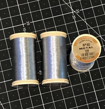Fil Au Chinois Metallic Thread - SILVER - in 100m Bobbin - MADE IN FRANCE