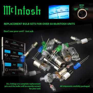 McIntosh MC2150 MC2120 Replacement Bulbs - complete set of 4