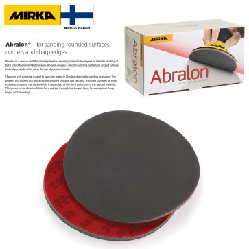 """50 PACK - Mirka Abralon 6"""" silicon carbide round sanding pads (wet or dry) - choose grit - 180 to 4000 - Made in Finland"""