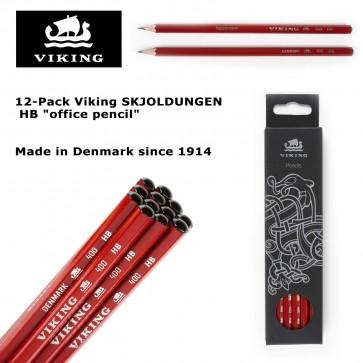 "12-Pack Viking SKJOLDUNGEN HB ""office pencil"" - Made in Denmark since 1914"