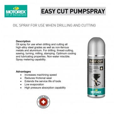 Motorex Lubricating Easy Cut Pump Spray 250ml - Made in Switzerland
