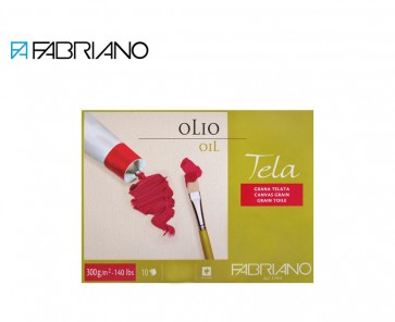 """Fabriano Tela oil painting paper block 16"""" x 22"""" (42x56cm) linen canvas texture"""