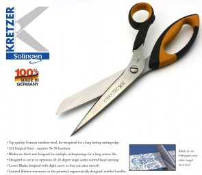 KRETZER FINNY TecX1 Glass Fiber / Kevlar / Carbon Fiber Shears (74730) - Made in Germany