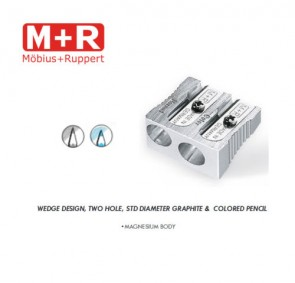 Mobius and Ruppert (M+R) 0212 DOUBLE WEDGE SHAPED MAGNESIUM Pencil sharpener