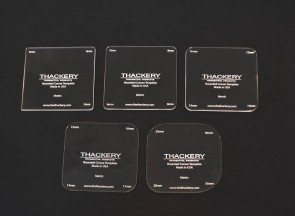 Thackery Acrylic Rounded Corner Template - METRIC - complete set of 5 templates - 20 sizes - 3mm to 30mm
