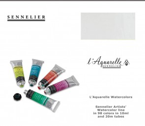 Sennelier 'French Artists' Watercolor 10ml #116 Titanium White
