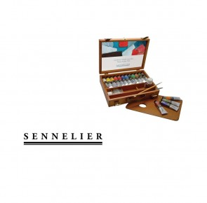Sennelier - 'Artists' Oils Wood Set of 12 40ml Tubes
