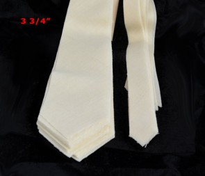"PRE-CUT 3 3/4"" wide medium weight necktie interfacing / interlining, 100% wool W14/13-33TH AC Ter Kuile"