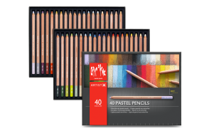 Caran d'Ache - PASTEL PENCILS – ASSORTMENT OF 40 COLORS