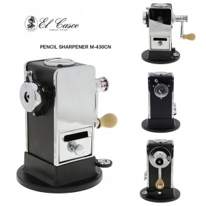 EL CASCO Desktop Pencil Sharpener M-430CN - Black/Chrome - a true work of art - Made in Spain