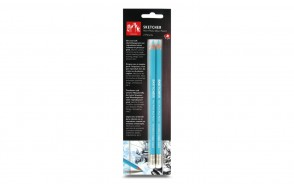 Caran d'Ache - 2-pack of Sketcher non-photo blue pencils (903.302) - Made in Switzerland - finest in the world!