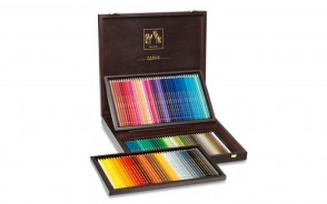 Caran d'Ache - Wood Box Gift Set - 120 pc PABLO Assortment - Made in Switzerland - finest colored pencils in the world!