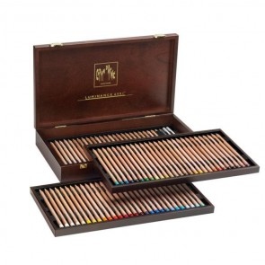 Caran d'Ache - Luminance 6901 gift box set - assortment of 84 colored pencils - Made in Switzerland - finest colored pencils in the world!