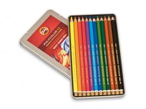 Set of 12 Koh-I-Noor Polycolor Oil Based Drawing Pencils