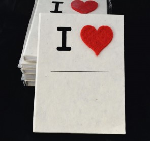 LAMALI - I HEART JOURNAL LARGE (A5) - gorgeous paper quality! Perfect gift!
