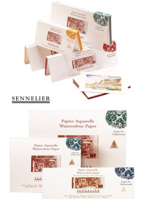 "Sennelier 12"" x 12"" 30x30cm Watercoloring Block - 140lb (300 gsm) Made in France"