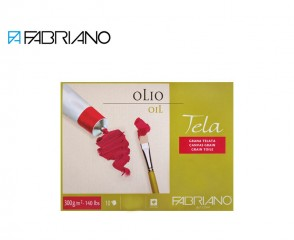 "Fabriano Tela oil painting paper block 14"" x 19"" (36x48cm) linen canvas texture"