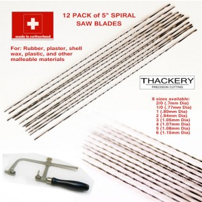 12 Pack of Spiral Saw Blades - Highest Quality, Made in Switzerland - 8 sizes to choose from