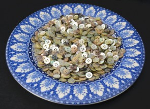 Set of 250 AGOYA BUTTONS - Choose size 18L 16L 14 L - great quality buttons! Amazing colors! Must see!