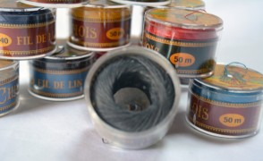 No. 155 Dark GRAY Fil Au Chinois WAXED LINEN Single Ply Sewing Thread in 50m Capsule - Made in France