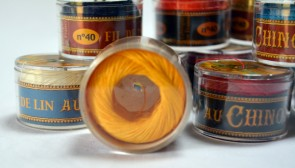 No. 363 YELLOW Fil Au Chinois WAXED LINEN Single Ply Sewing Thread in 50m Capsule - Made in France