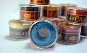No. 735 TURQUIOSE Fil Au Chinois WAXED LINEN Single Ply Sewing Thread in 50m Capsule - Made in France