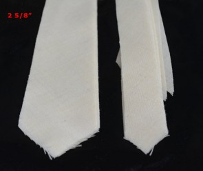 "PRE-CUT 2 5/8"" wide medium weight necktie interfacing / interlinging, 100% wool W14/13-33TH AC Ter Kuile"